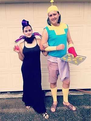 17 Unique DIY Disney Couples Costumes Ideas For Halloween | Gurl.com  sc 1 st  Pinterest & 17 Unique DIY Disney Halloween Couples Costumes No One Else Will ...