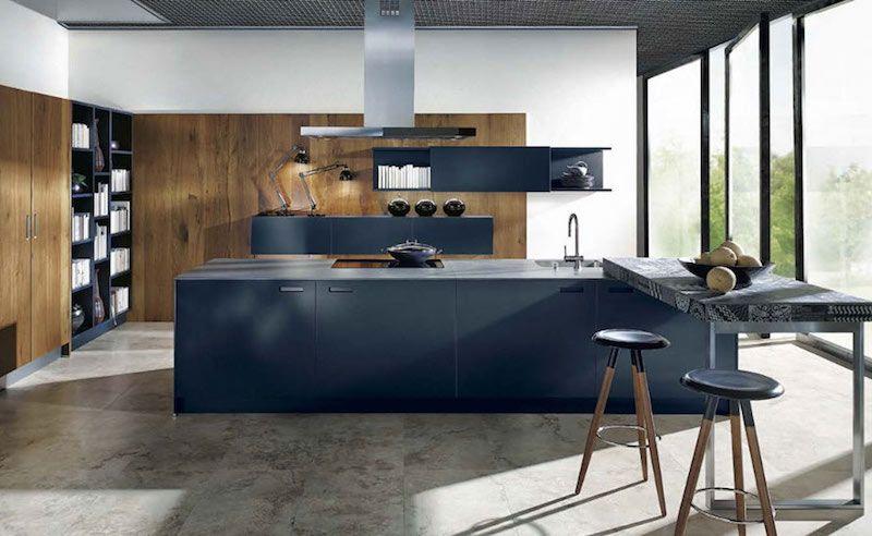 cuisine bleu gris canard ou bleu marine code couleur et id es de d co appart pinterest. Black Bedroom Furniture Sets. Home Design Ideas