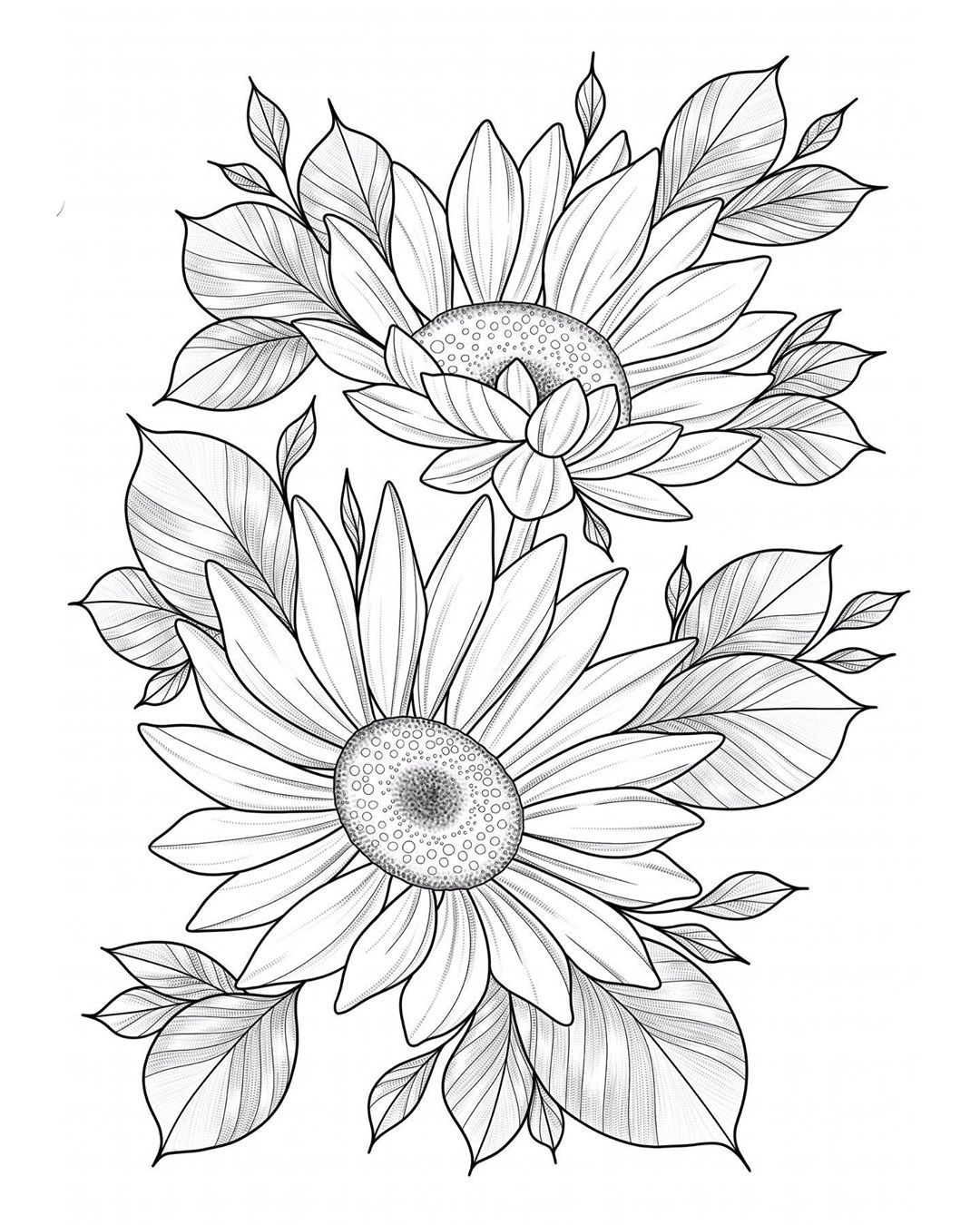 Neo Traditional Sunflower Tattoo : traditional, sunflower, tattoo, Sunflowers, Favourite, 🌻🌼, #tattoo, #tattooapprentice, #tattoodesign, #drawing, #create, #artist, #ill…, Flower, Coloring, Pages,, Tattoos,, Tattoo, Portfolio