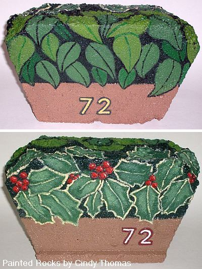 Painting Rock & Stone Animals, Nativity Sets & More: Do You Need a Garden Decor Idea? Paint a Year-Round, Reversible Address Stone