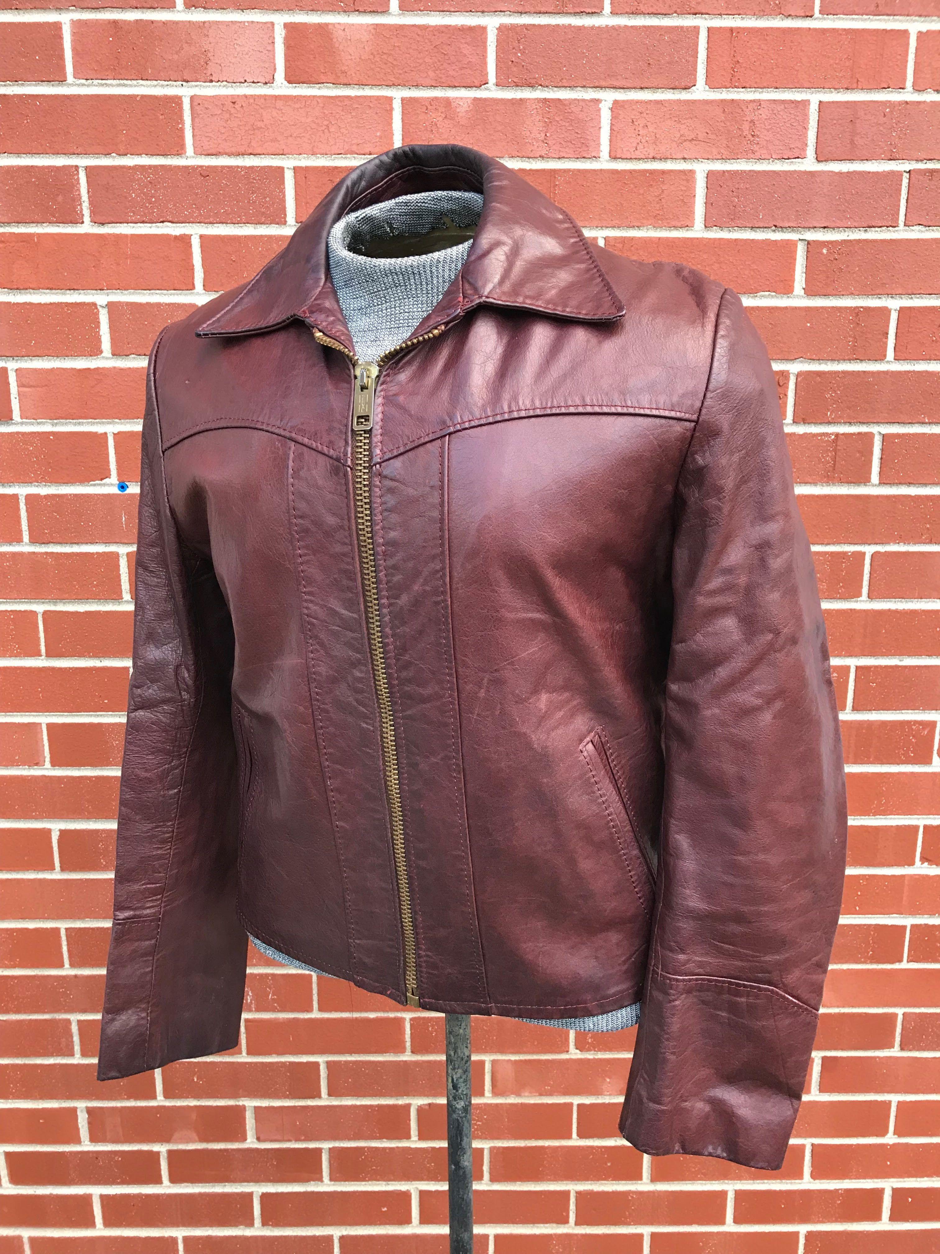 Vintage Men S 1960 S 1970 S Leather Jacket Leather Jacket Men Style Leather Jacket Men Leather Jacket