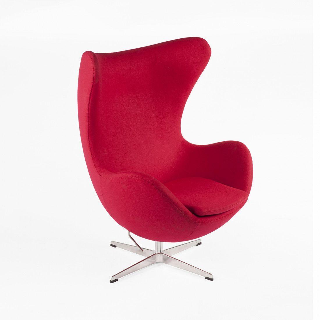 Mid Century Modern Reproduction Egg Chair   Dark Red Inspired By Arne  Jacobsen #EggChair
