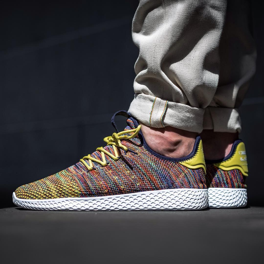 pharrell williams tennis hu shoes multicolor
