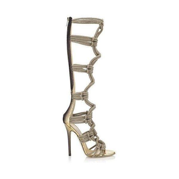 Nicole Kidman models Jimmy Choo's new rope knee high sandals