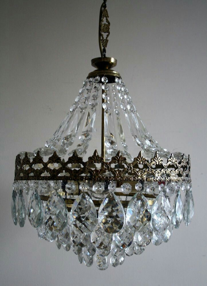 French Vintage Waterfall Pendant Statement Lighting Pinterest - Chandelier crystals diy