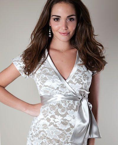 49e5e110f93 Grace Lace Maternity Dress (Ivory) - Maternity Wedding Dresses ...