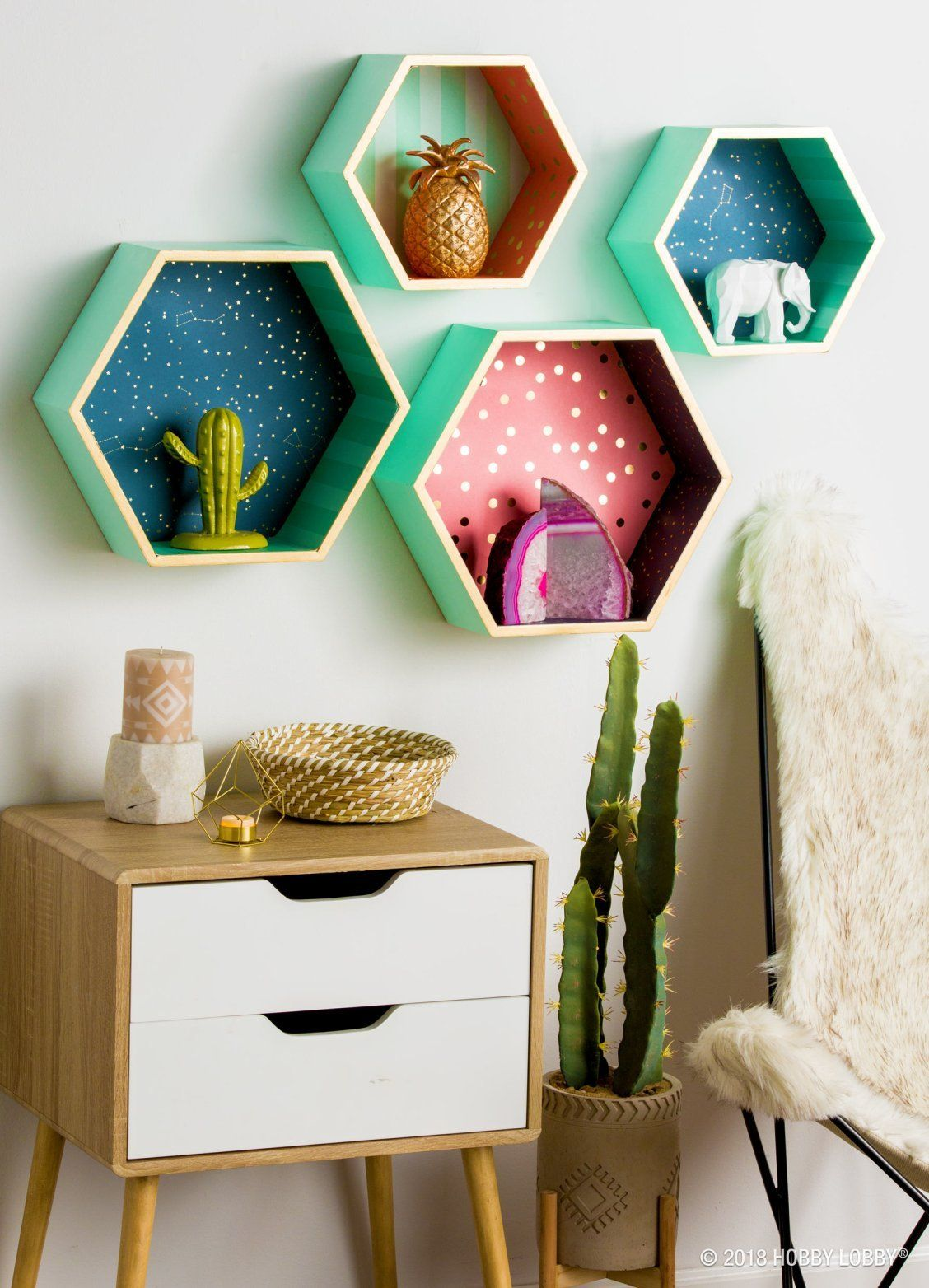 Make your shelves go from holding decor to being decor
