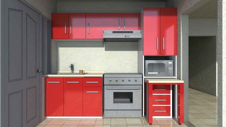 Cocina integral cereza blanco | Max Architects Construction ...