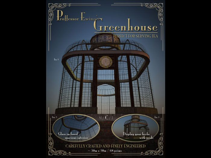 Steampunk Greenhouse for Second Life