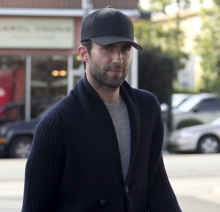 Adam Levine hanging out in hollywood wearing Gents Black Directors Cap. 01382308e686