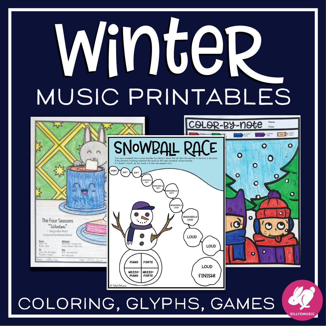 Winter Music Worksheets From Sillyomusic