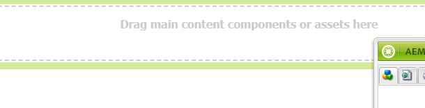 Screenshot of a customized parsys drop area