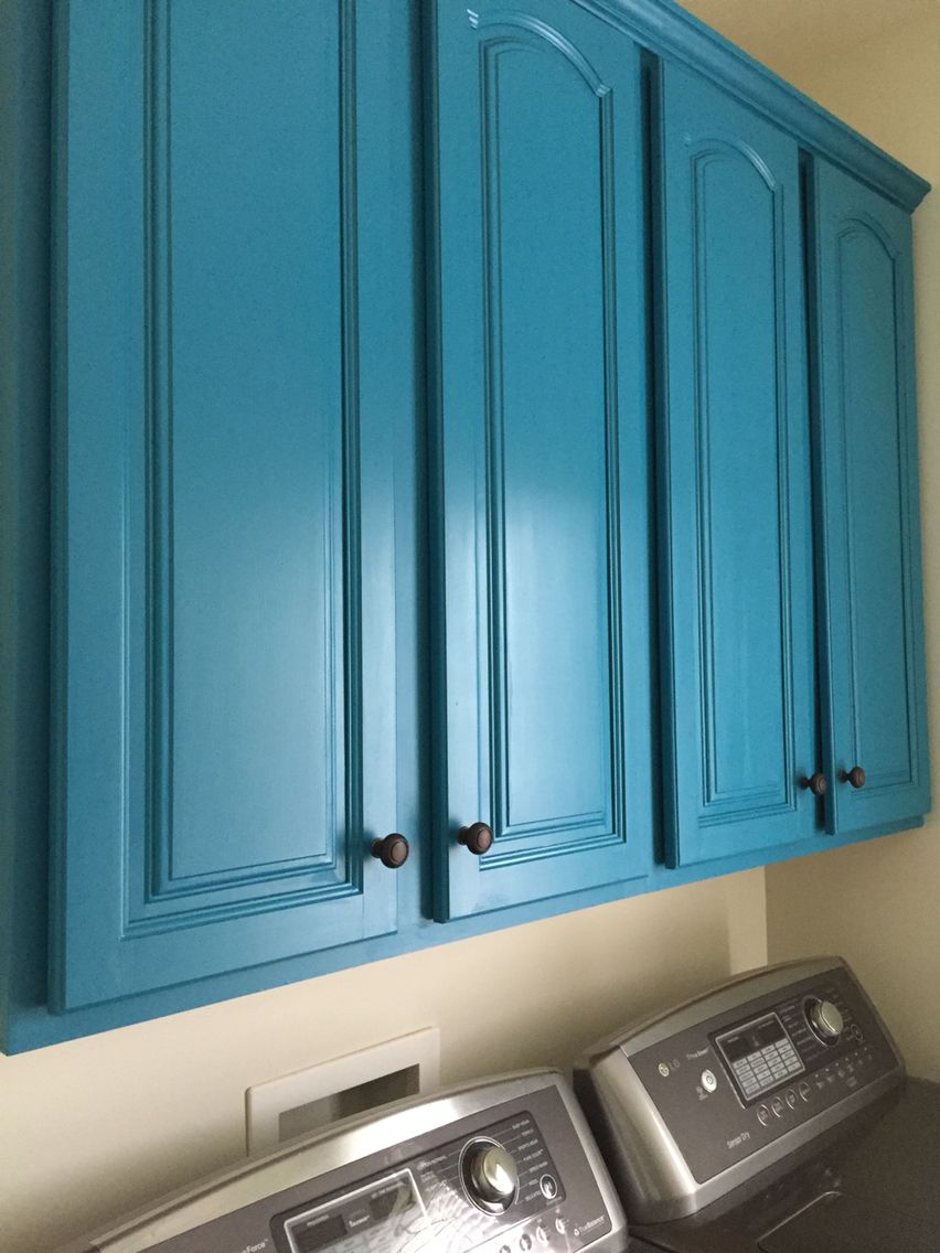 Laundry room cabinets painted with valspar Sunday bustle and ...