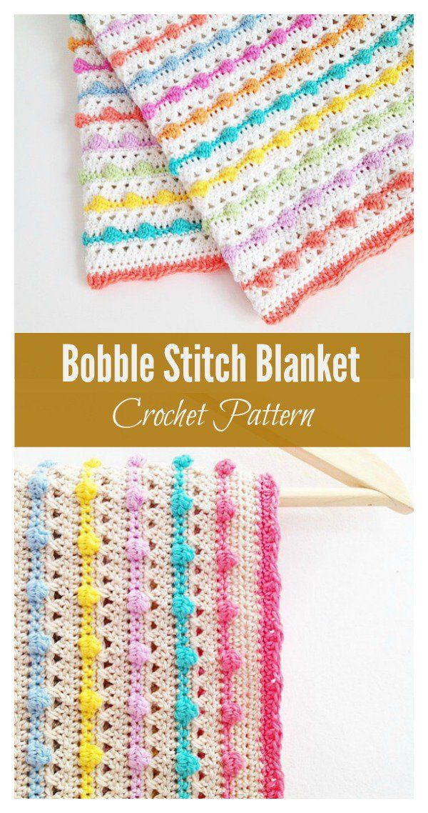 Bobble Stitch Blanket Crochet Pattern | Crochet patterns | Pinterest ...