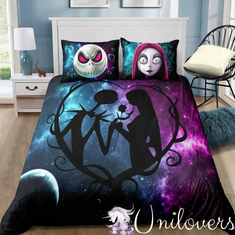 Galaxy Of Halloween Love Bedding Set In 2019 Jack