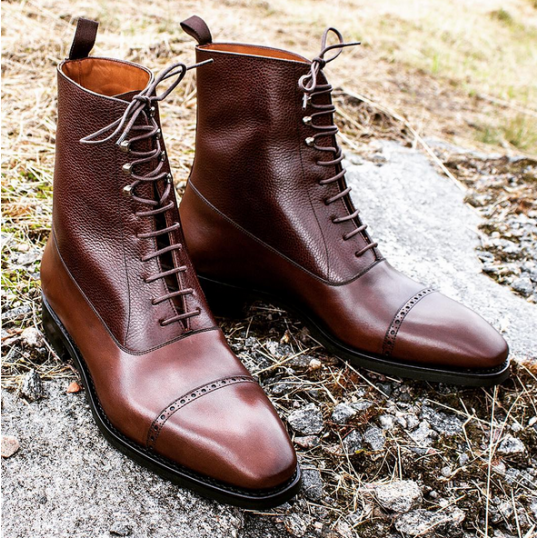 Yanko Balmoral boot | Quality leather boots, Mens leather