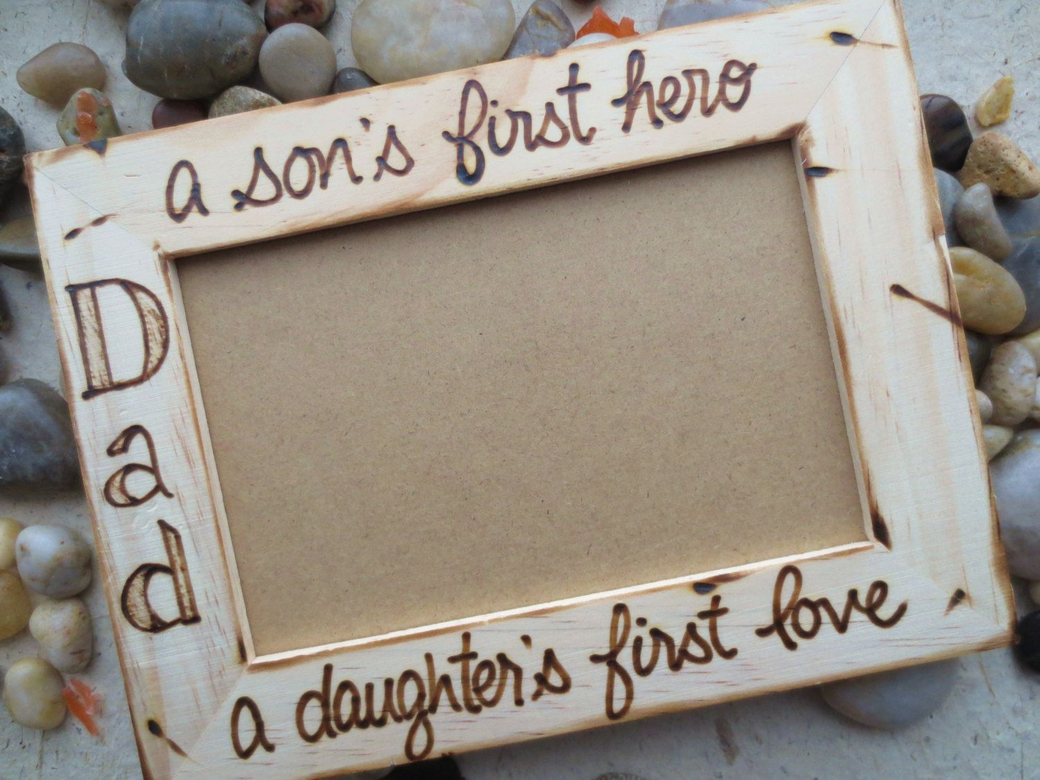 Fathers day gift for dad custom rustic wood frame for