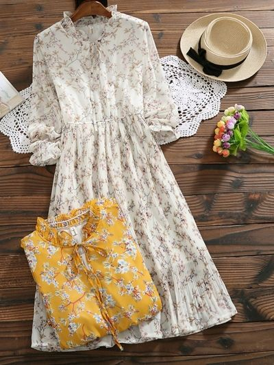 Photo of Vintage Chiffon Floral Dress – ORTREND.COM
