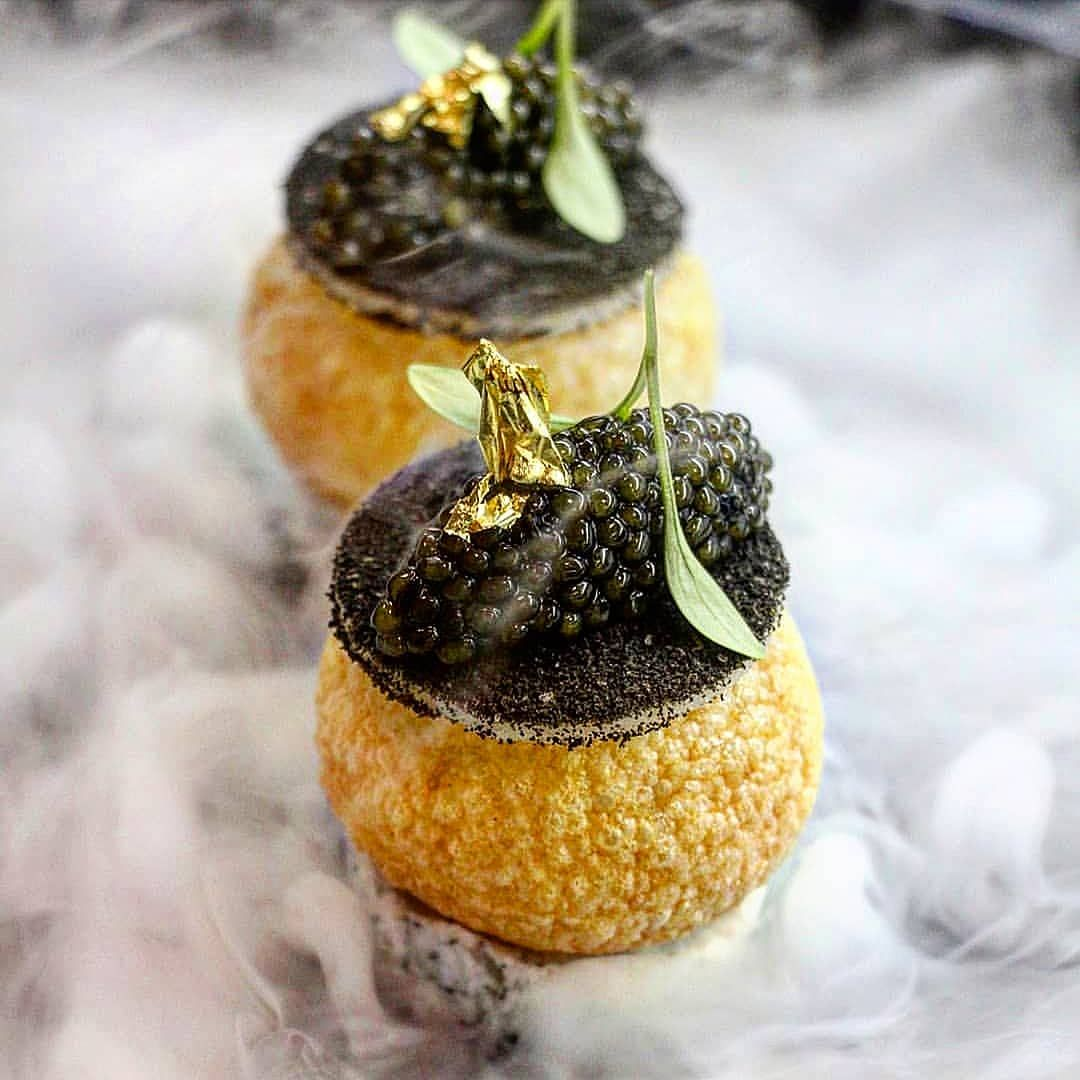 •《 Kristal Caviar, Imli Pani, Gillardeau Oyster 》 • _____________________________ Full credit to @gregoire.ossiano for the wonderful presentation.  _____________________________ Follow @theaestheticsoffood for more cooking inspiration! . . . %2