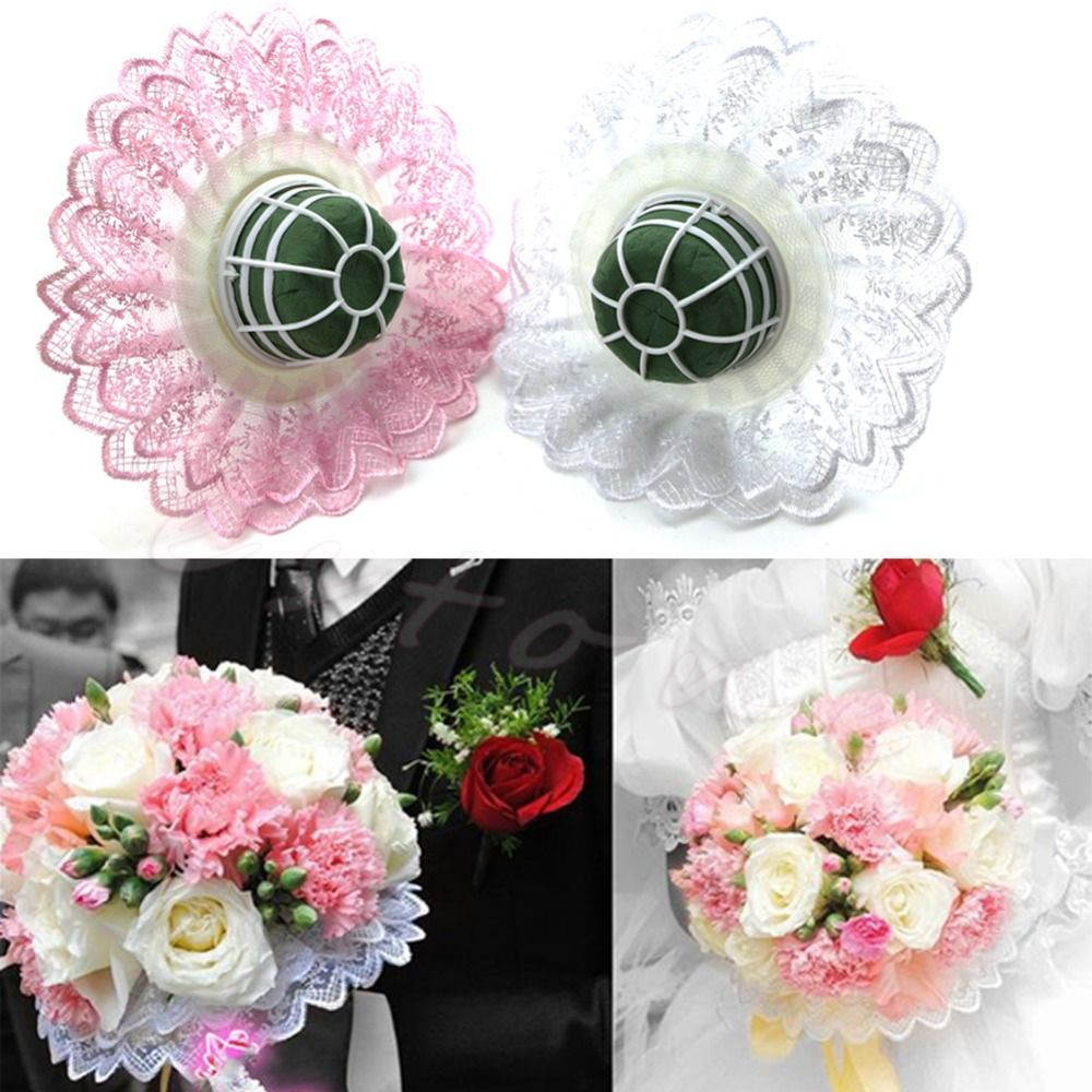 HOT 1 Set Of Wedding Bride Bridal Flower Bouquet Handle Holder With ...