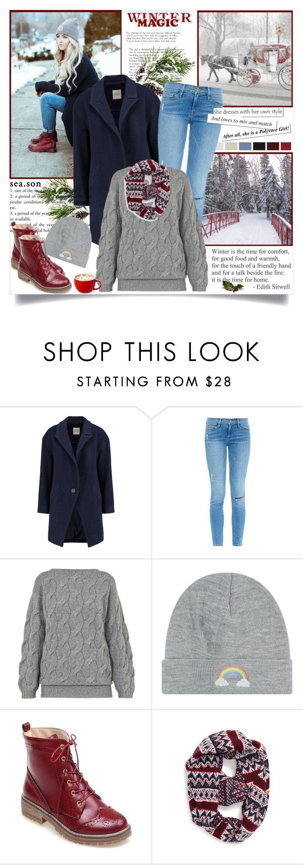 """""""Winter Magic"""" by annabu ❤ liked on Polyvore featuring Mason by Michelle Mason, Frame Denim, AV by Adriana Voloshchuk, Local Heroes, Topshop, women's clothing, women's fashion, women, female and woman"""