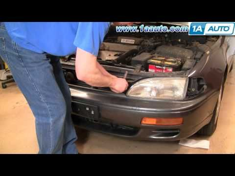 How To Install Replace Headlight And Bulb Toyota Camry 95 96 1aauto