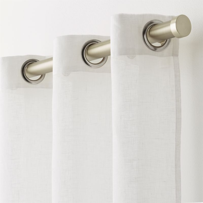 """White Linen Sheer 52""""x108"""" Curtain Panel With Grommets"""