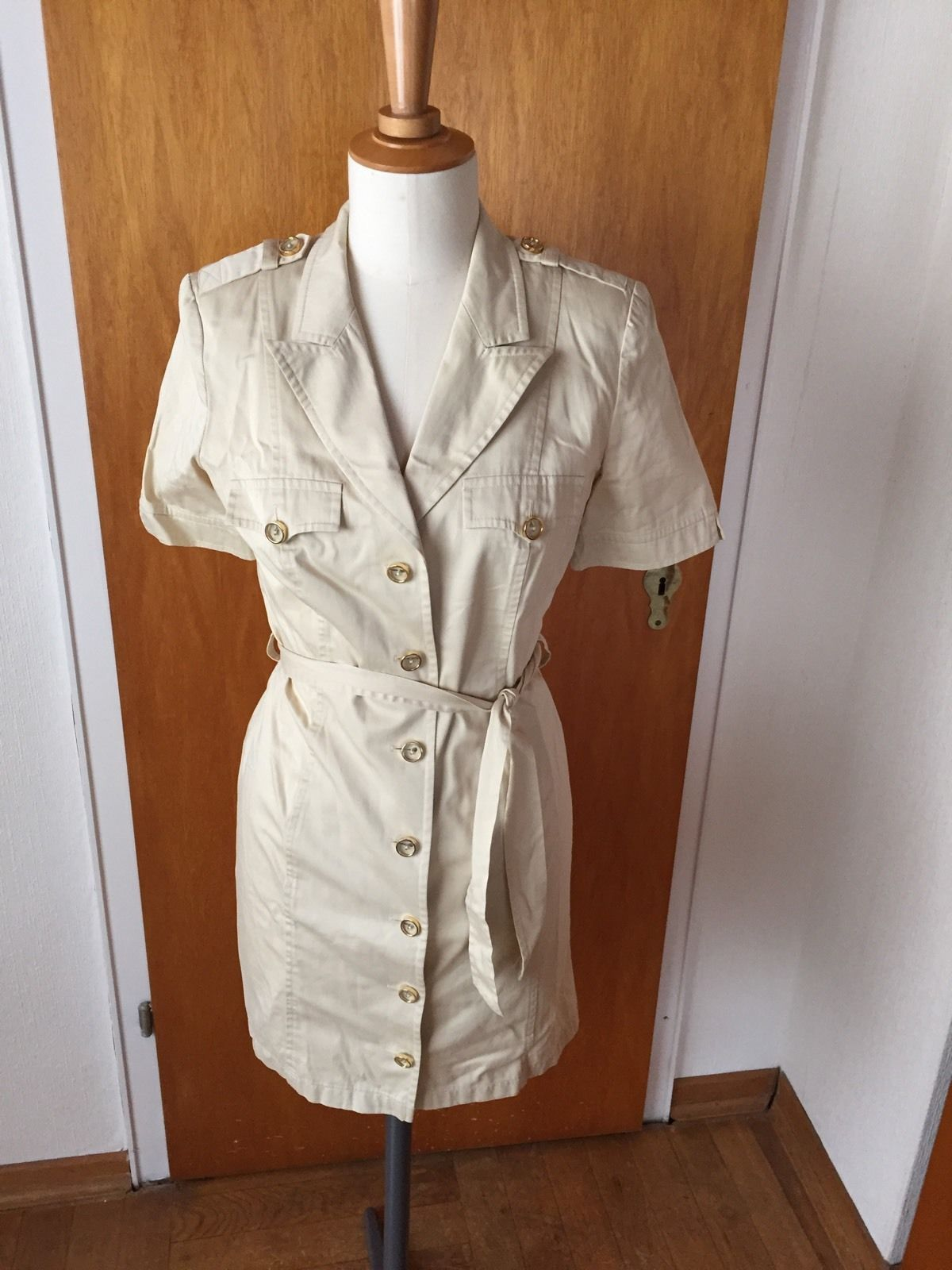 Original Escada Kleid Safari Stil 38 Beige | eBay