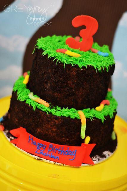 Glow worm birthday cake