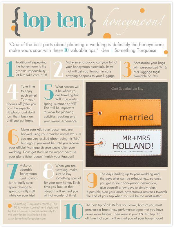 Top 10 Someday Honeymoon Tips Wedding Wedding Tips