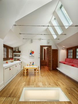 Attic Room Design Ideas Pictures Remodel And Decor Tension Posts Could Also Be Singular Beams Home Attic Rooms