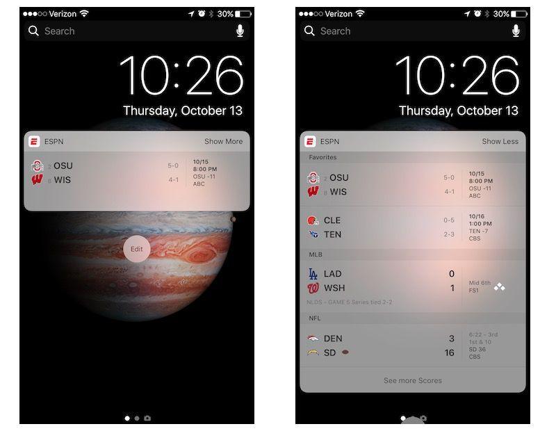 add widget to iphone lock screen