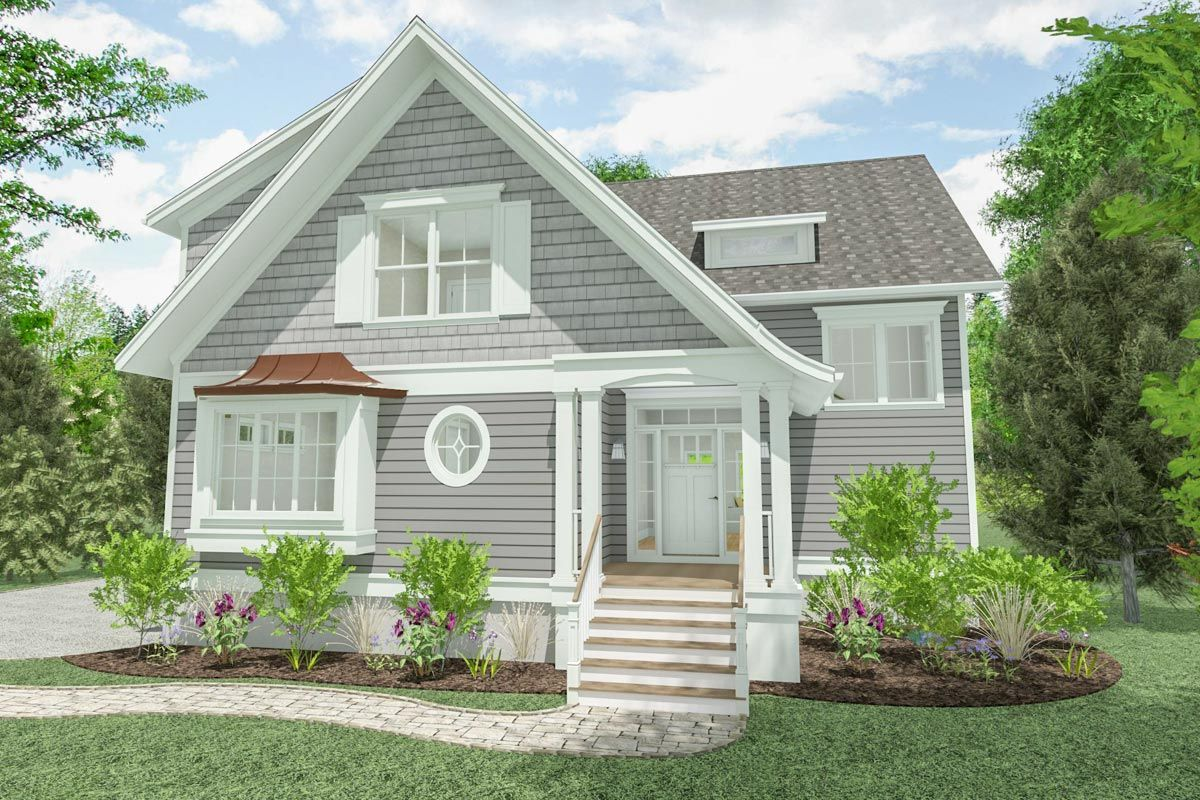 Plan 765002twn Attractive Cottage With Downstairs Den Cottage Style House Plans House Plans Farmhouse Cottage Floor Plans