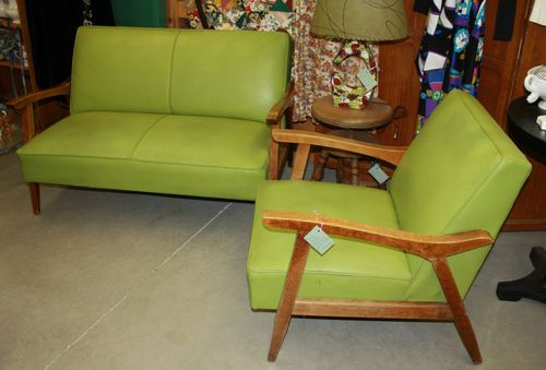 Vintage Mid Century Modern 1950s Maple Loveseat Armchair Set Armchair Sets Love Seat Mid Century Modern