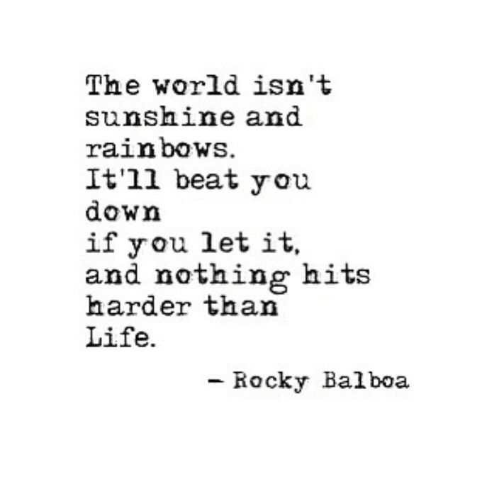 Nothing hits you harder than life itself