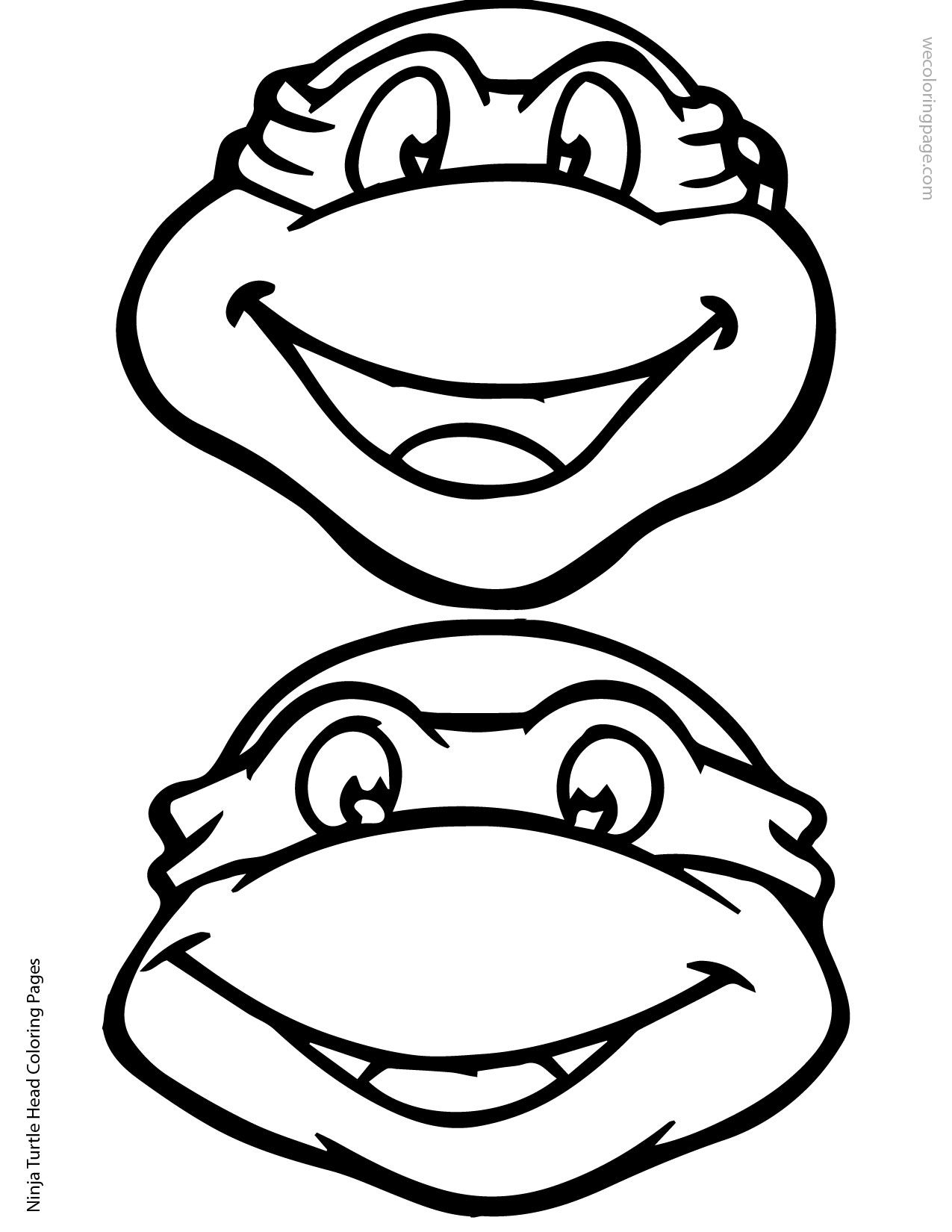Ninja Turtle Head Coloring Page 02 01 | Elias | Pinterest | Ninjago ...