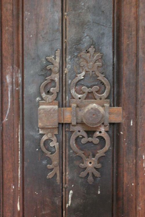 Interior Chateau De Gudanes Antique Doors Antique Door Hardware