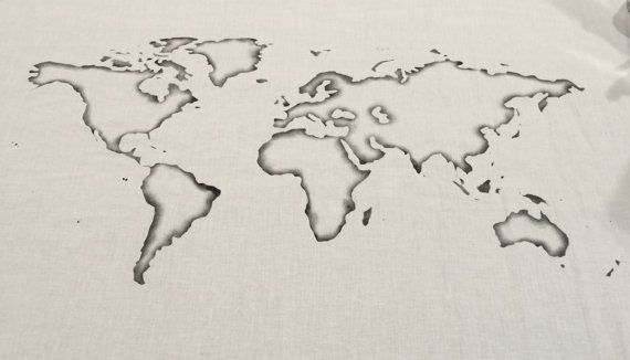 World map wall tapestry outline choose your color beijing world map wall tapestry outline choose your color gumiabroncs Choice Image