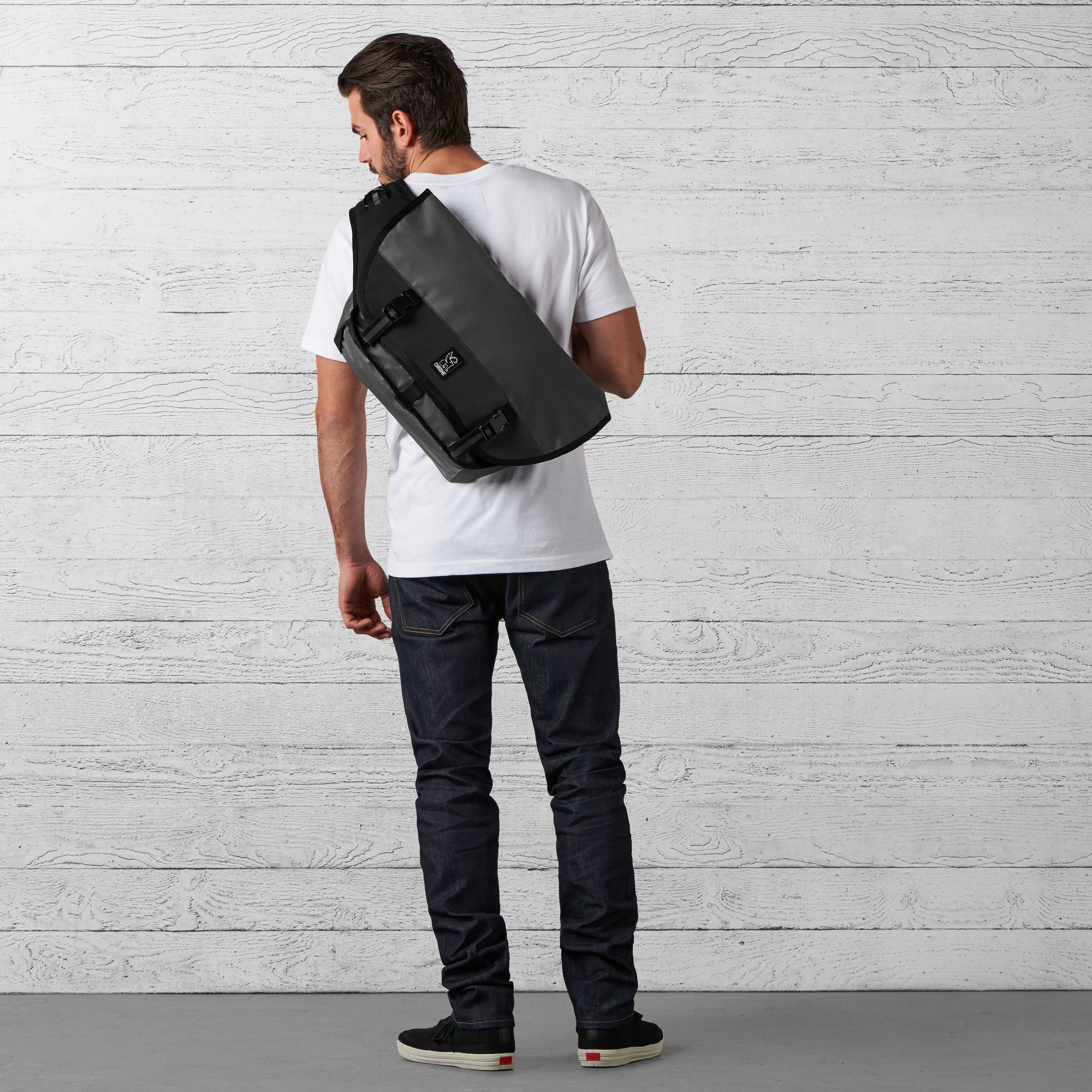 The Welterweight Mini Metro Messenger Bag in Charcoal   Black - wide-hi-res  view. d12c36b240