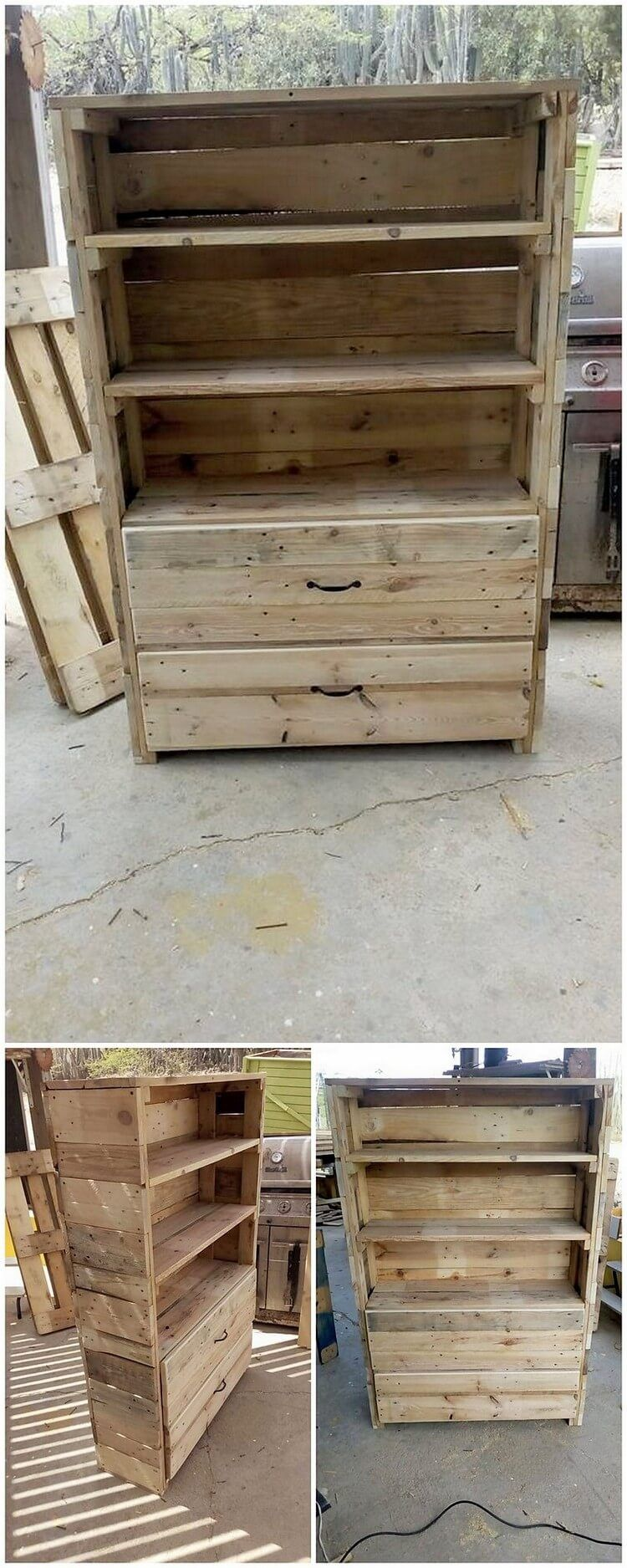 This uniquely designed wood pallet creation is