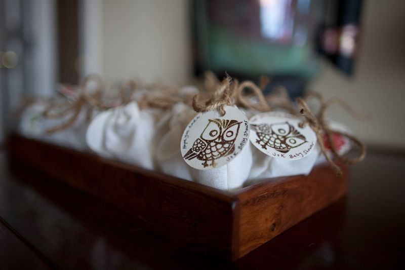 Baby Shower Goodie Bags, Great Owl Stamp