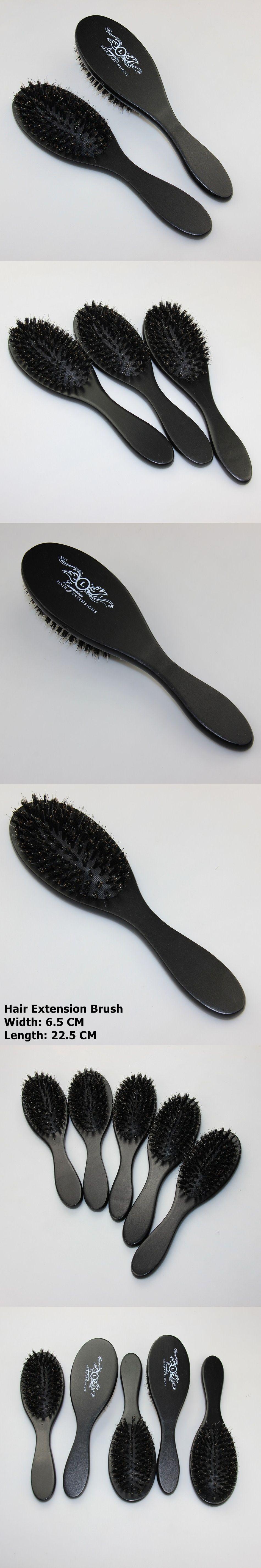 Dark Brown Color Hair Extension Loop Brushhair Comb For Tangled