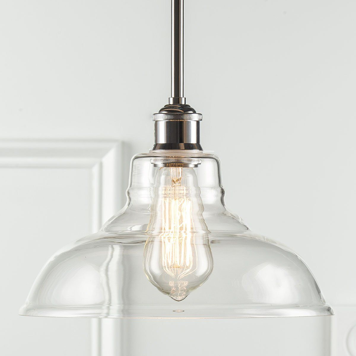 Industrial Glass Pendant Light Kitchen Pendant Light By GoPioneers
