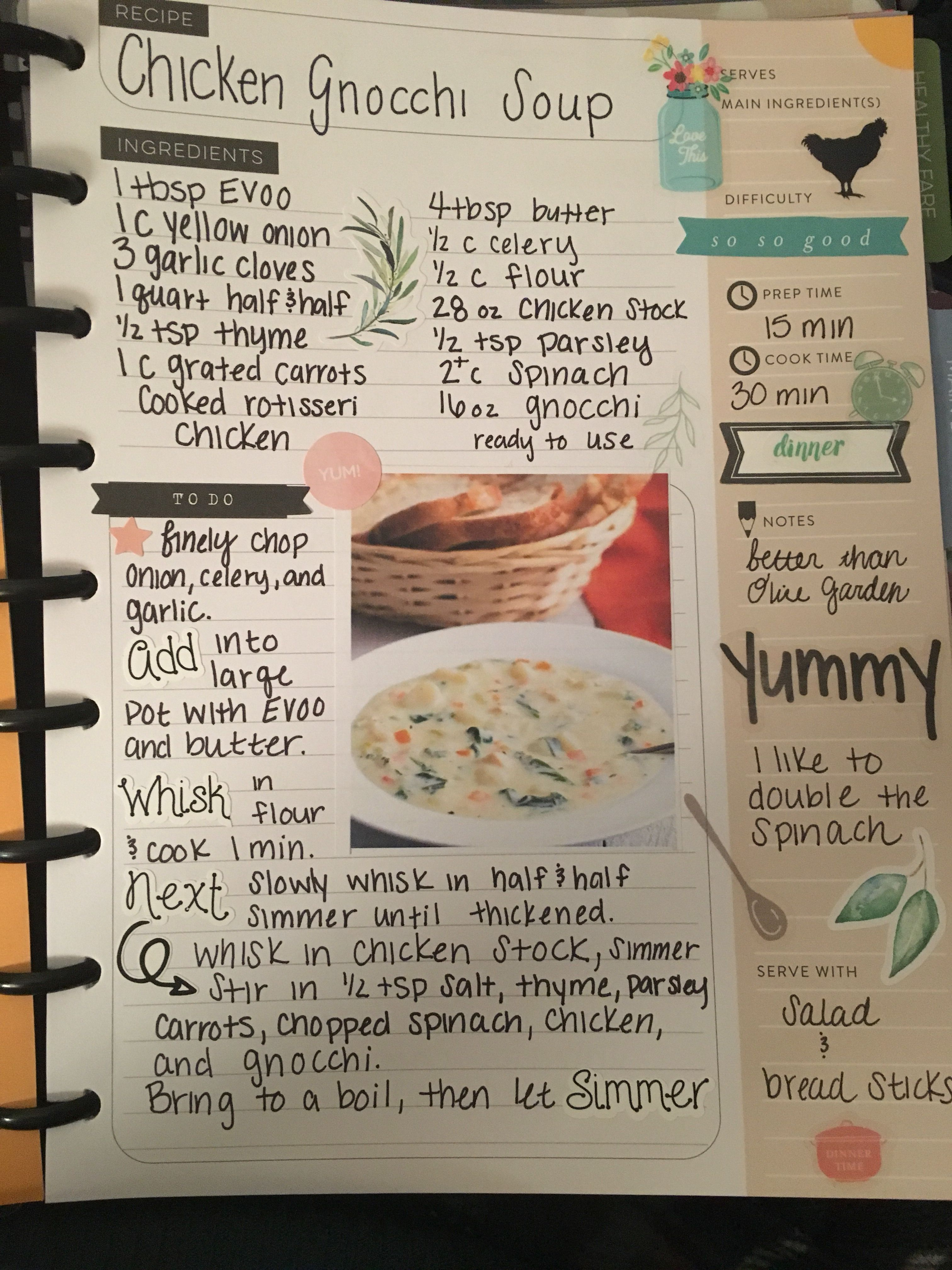 Happy Planner Recipe Book Meal Plan Homemade Recipe Books Recipe Book Diy Scrapbook Recipe Book