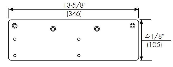 Norton 7500 Series Parts 7787 Low Ceiling Clearance Overhead Door Holder Drop Plate Overhead Door Low Ceiling Door Holders