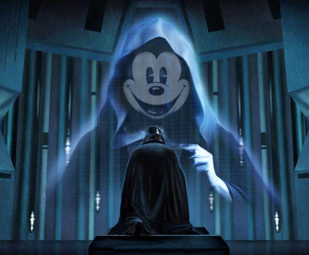 Darth Vader & Emperor Mickey