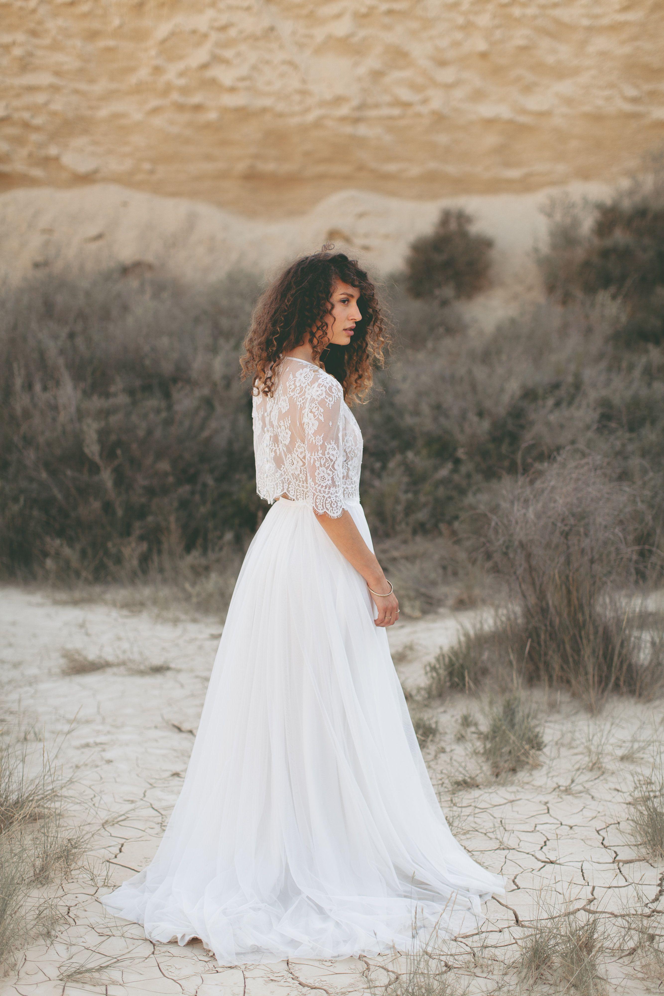 Boho Hochzeitskleid / Vintage Hochzeit Hippie Wedding Dress