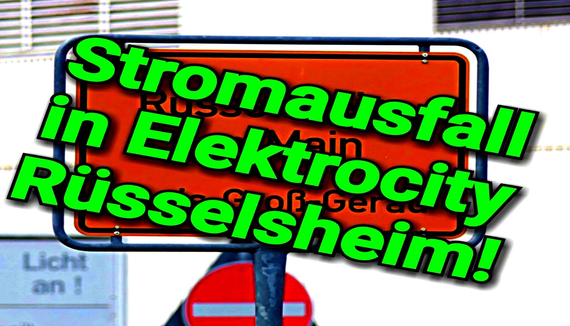 Stromausfall Rüsselsheim