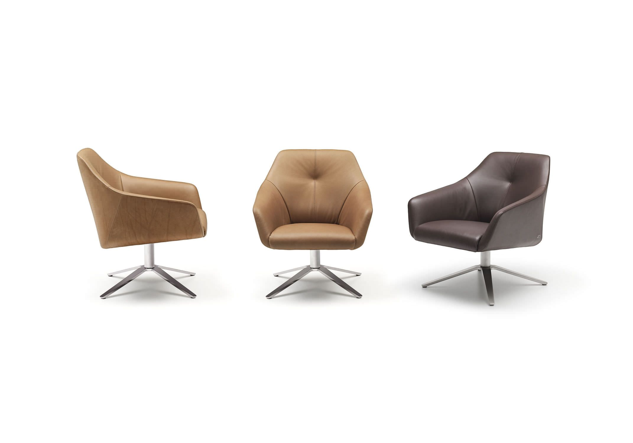 Captivating Contemporary Armchair / Leather / Swivel / Star Base DS 278 By Christian  Werner De Sede AG