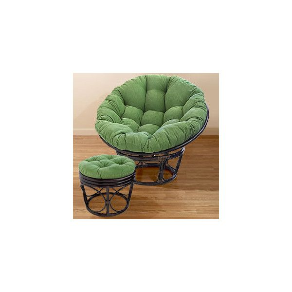 Green Corduroy Papasan Cushions Chair Cushions Cost Plus World